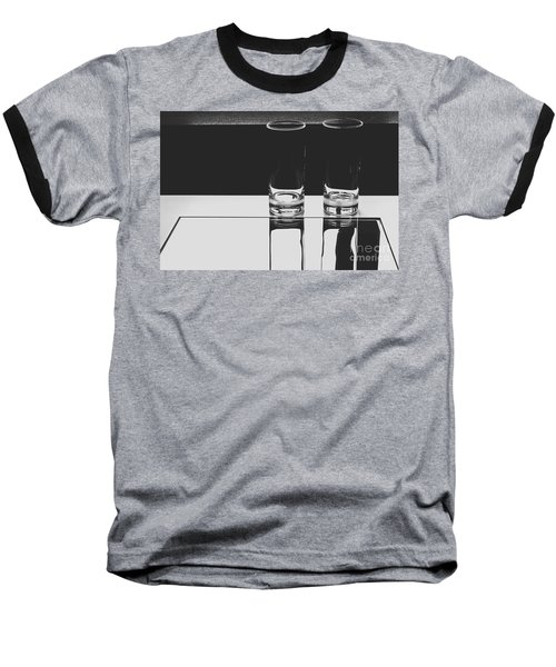Glasses On A Table Bw Baseball T-Shirt