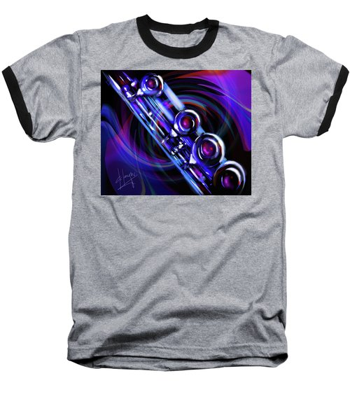 Baseball T-Shirt featuring the painting Glassical Flute by DC Langer