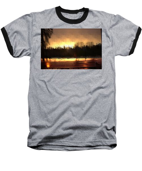 Glassy Dawn Baseball T-Shirt by Terence Morrissey