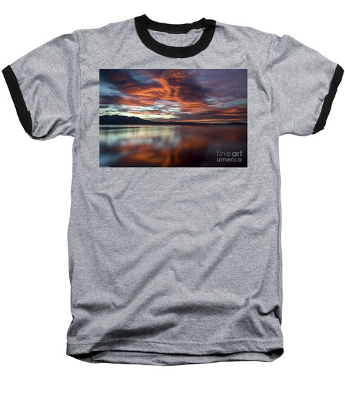 Baseball T-Shirt featuring the photograph Glassy Tahoe by Mitch Shindelbower