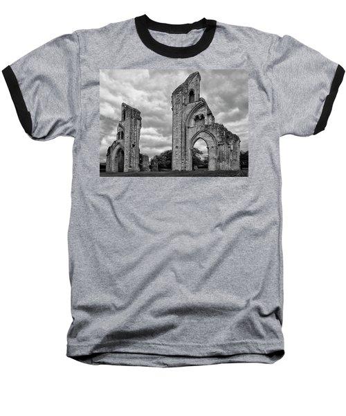 Baseball T-Shirt featuring the photograph Glastonbury Abbey by Elvira Butler