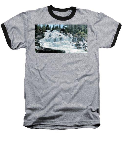 Glen Alpine Falls Mist Baseball T-Shirt