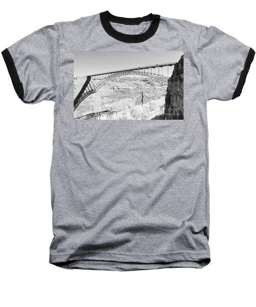 Glen Canyon Bridge Bw Baseball T-Shirt