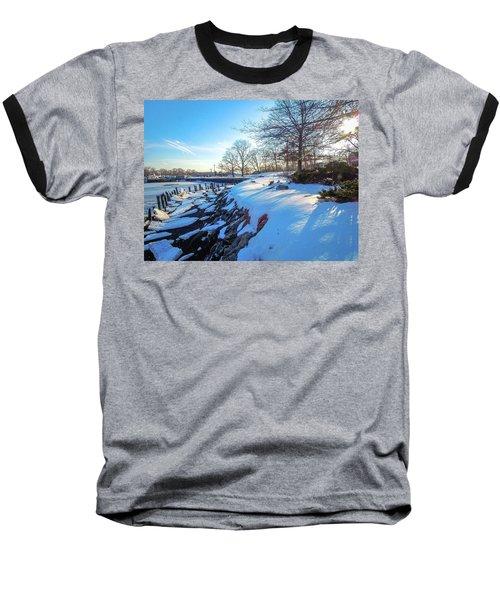 Glen Island Snowfall Baseball T-Shirt