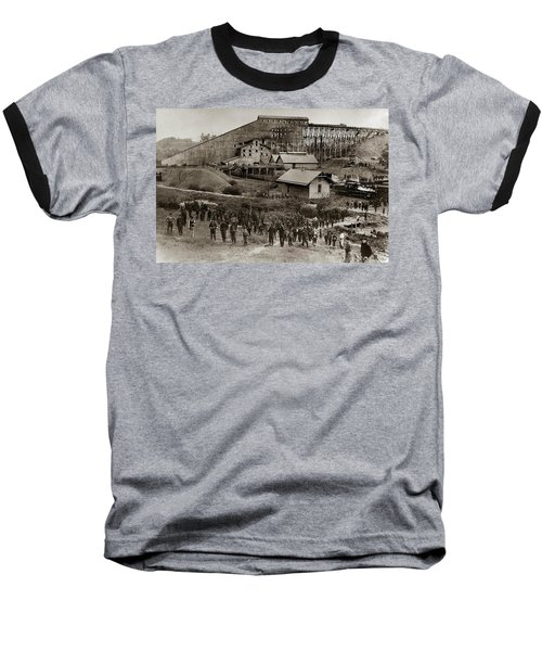 Glen Lyon Pa Susquehanna Coal Co Breaker Late 1800s Baseball T-Shirt