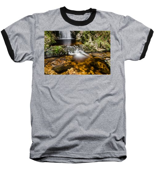 Glenevin Waterfall Clonmany Baseball T-Shirt by Martina Fagan