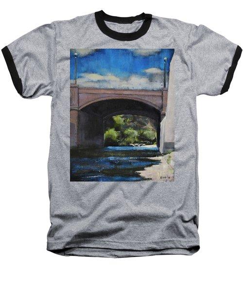 Glendale Bridge Baseball T-Shirt by Richard Willson