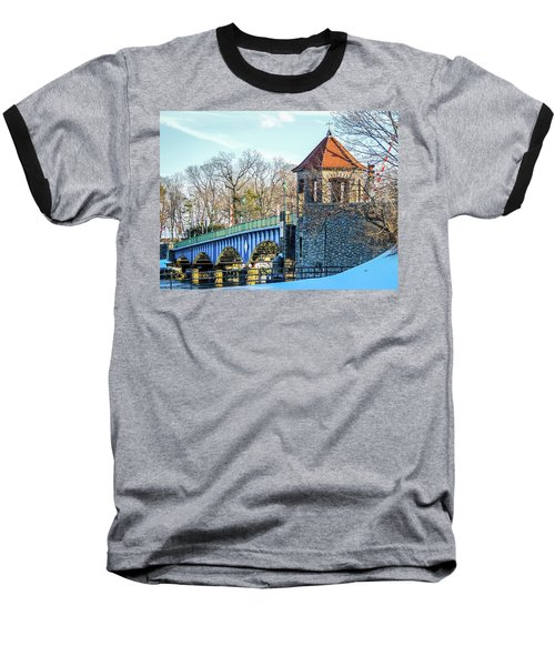 Glenn Island Drawbridge Baseball T-Shirt