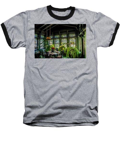 Glensheen Mansion Breakfast Room Baseball T-Shirt by Paul Freidlund