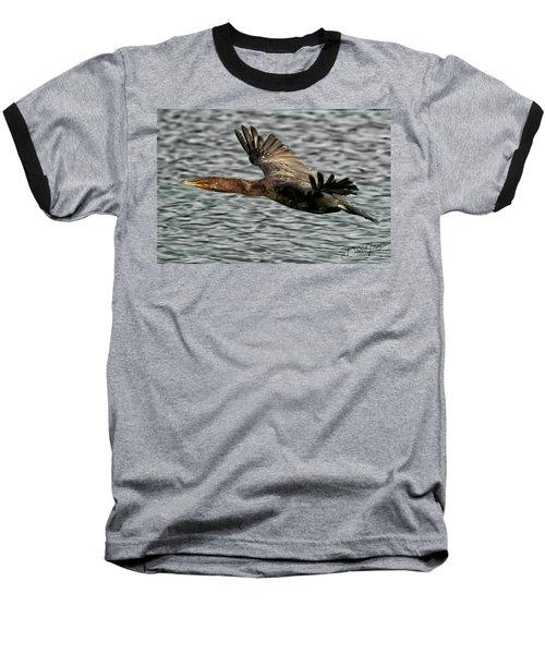 Gliding Cormorant Baseball T-Shirt