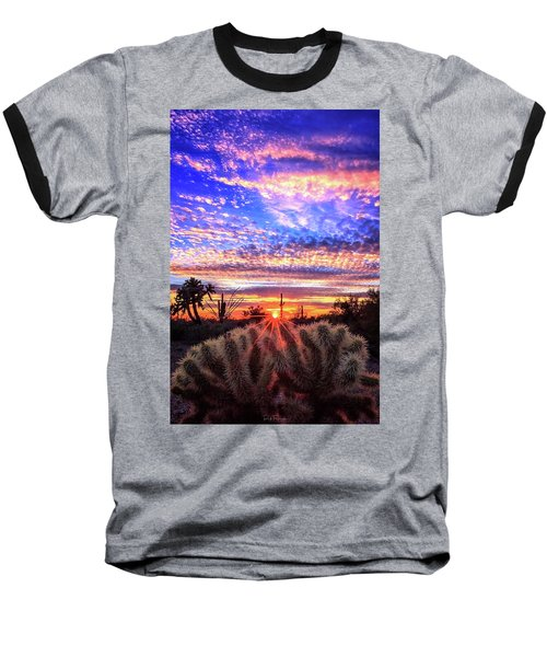 Glimmering Skies Baseball T-Shirt by Rick Furmanek