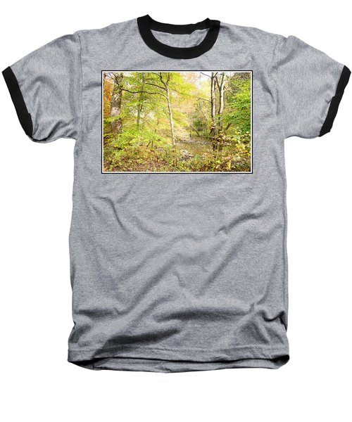 Glimpse Of A Stream In Autumn Baseball T-Shirt by A Gurmankin