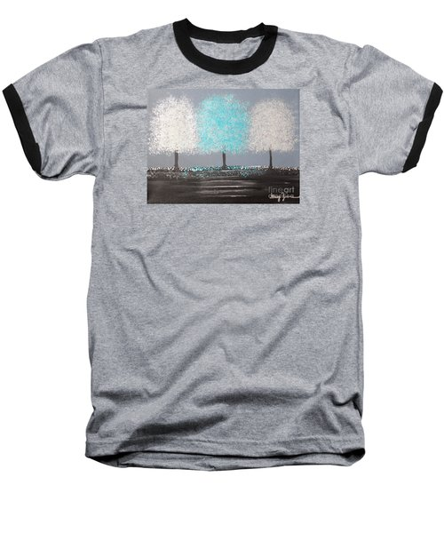 Baseball T-Shirt featuring the painting Glistening Morning by Stacey Zimmerman