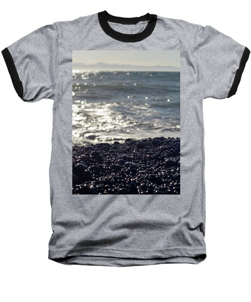 Glistening Rocks And The Ocean Baseball T-Shirt