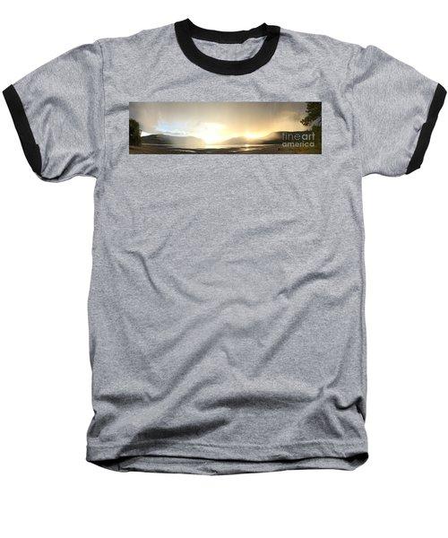 Glittering Shower Baseball T-Shirt by Victor K