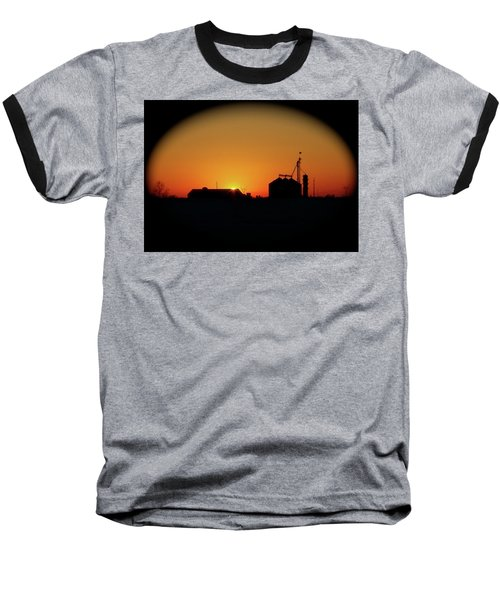 Global Sunset Baseball T-Shirt by Sue Stefanowicz