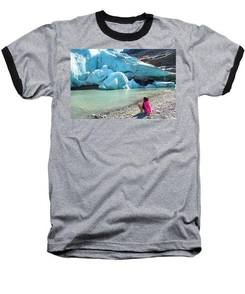 Global Warming Baseball T-Shirt by Tamara Sushko