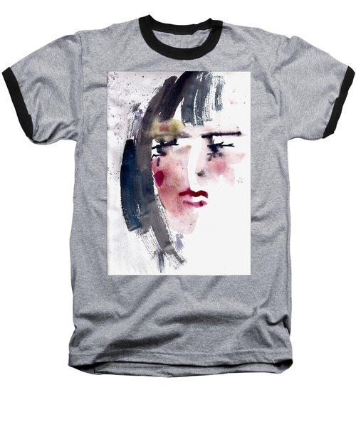 Baseball T-Shirt featuring the painting Gloomy Woman  by Faruk Koksal