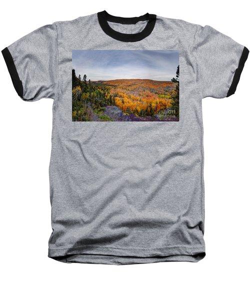 Glorious Autumn Lutsen Mountain Resort North Shore Minnesota Baseball T-Shirt