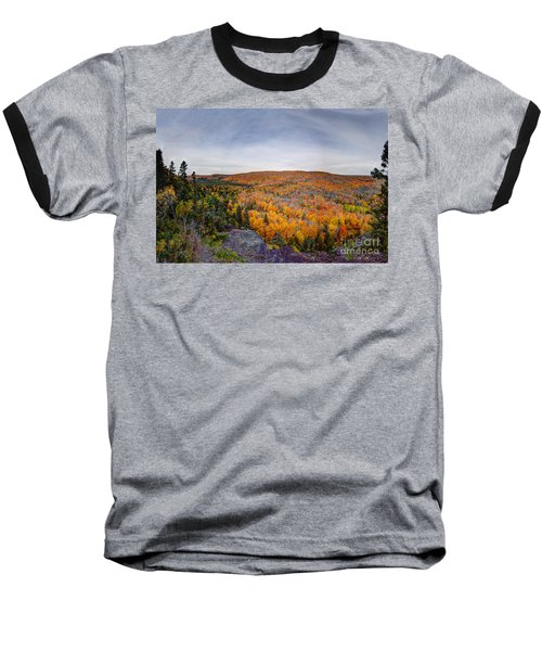 Glorious Autumn Lutsen Mountain Resort North Shore Minnesota Baseball T-Shirt