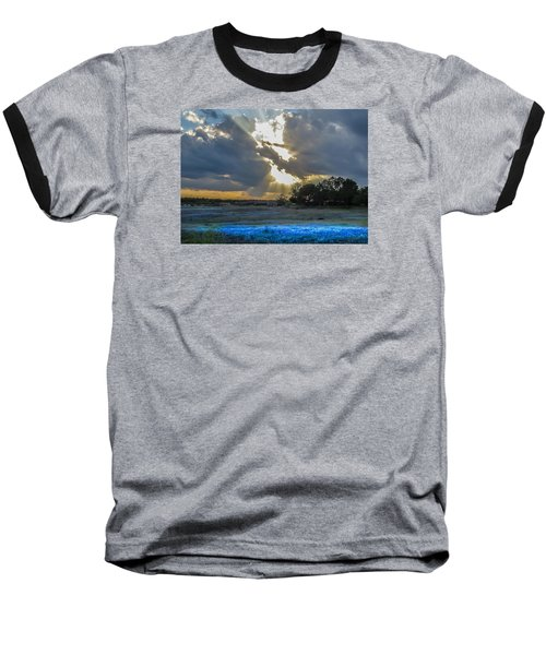 Da211 Glorious Bluebonnet Sunset By Daniel Adams Baseball T-Shirt