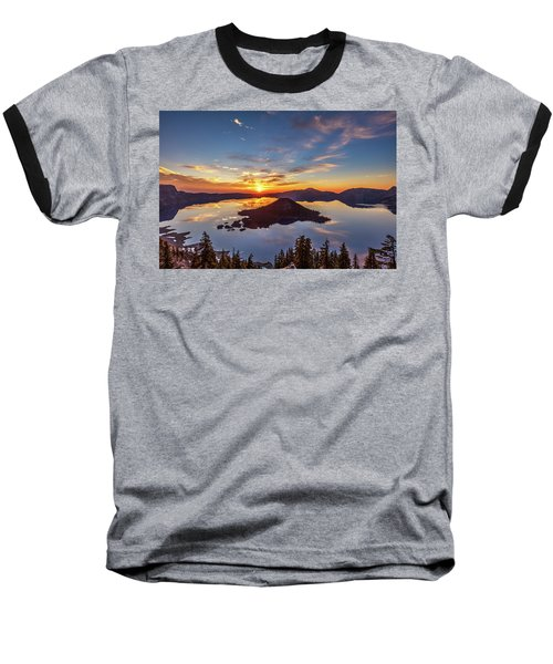 Baseball T-Shirt featuring the photograph Glorious Crater Lake Sunrise by Pierre Leclerc Photography