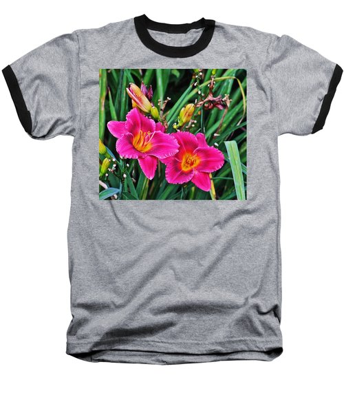 Glorious Daylilies Baseball T-Shirt