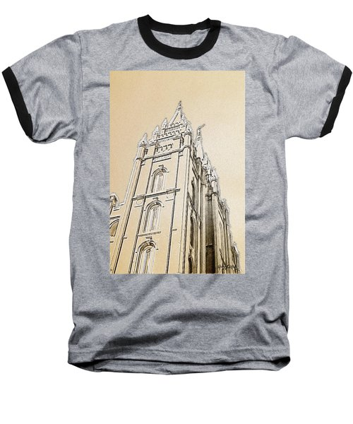 Baseball T-Shirt featuring the drawing Glory And Majesty by Greg Collins