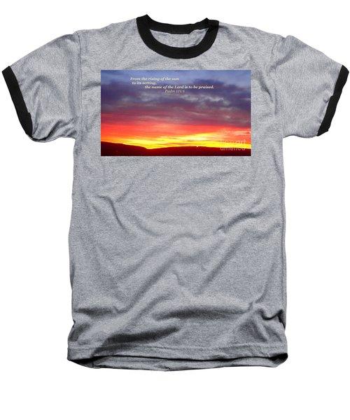 Glory And Praise  Baseball T-Shirt by Christina Verdgeline