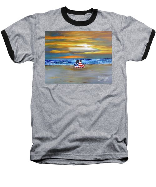 Baseball T-Shirt featuring the painting Glory by Barbara Hayes