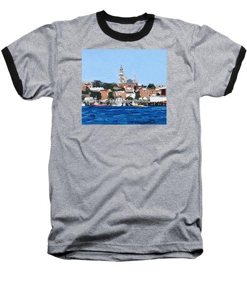 Gloucester City Hall From Inner Harbor Baseball T-Shirt