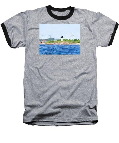 Gloucester Ma Skyline From Harbor Baseball T-Shirt