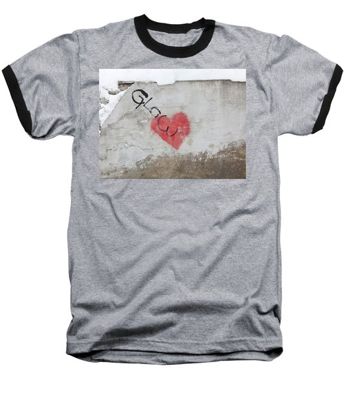 Baseball T-Shirt featuring the photograph Glow Heart by Art Block Collections