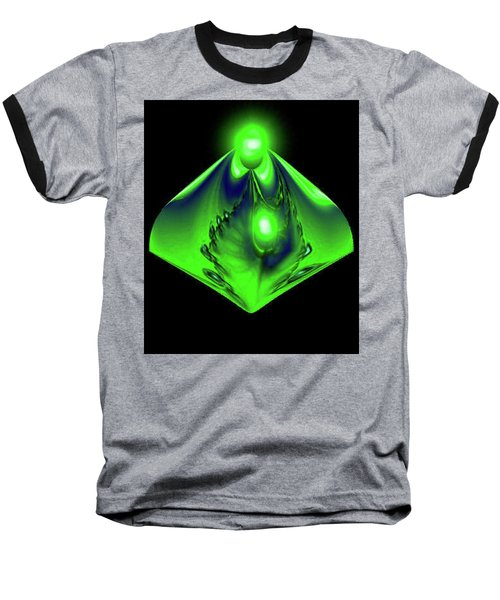 Baseball T-Shirt featuring the mixed media Glow by Kevin Caudill