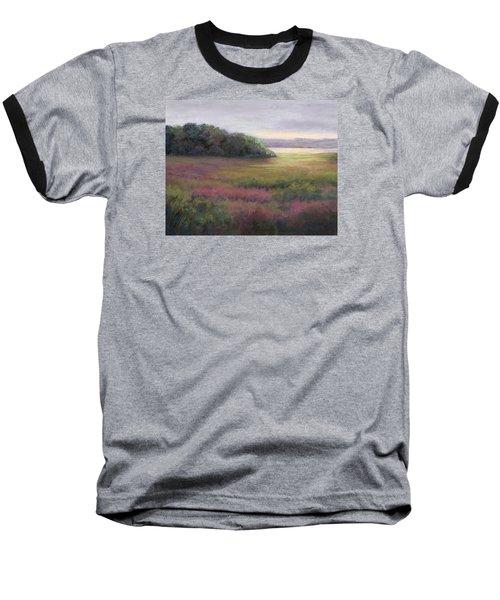 Baseball T-Shirt featuring the painting Glow On Gilsland Farm by Vikki Bouffard