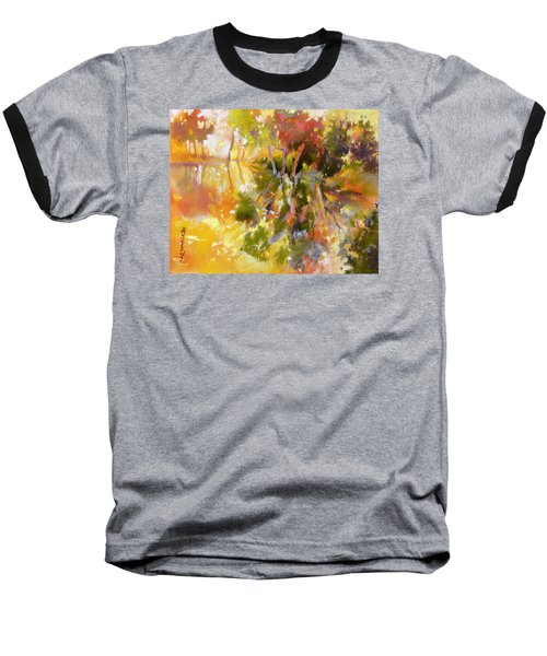 Baseball T-Shirt featuring the painting Glow by Rae Andrews