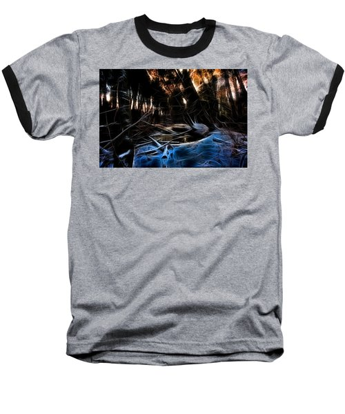 Baseball T-Shirt featuring the photograph Glow River by Michaela Preston