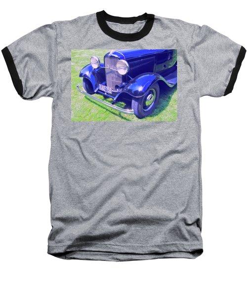 Glowing Blue Baseball T-Shirt