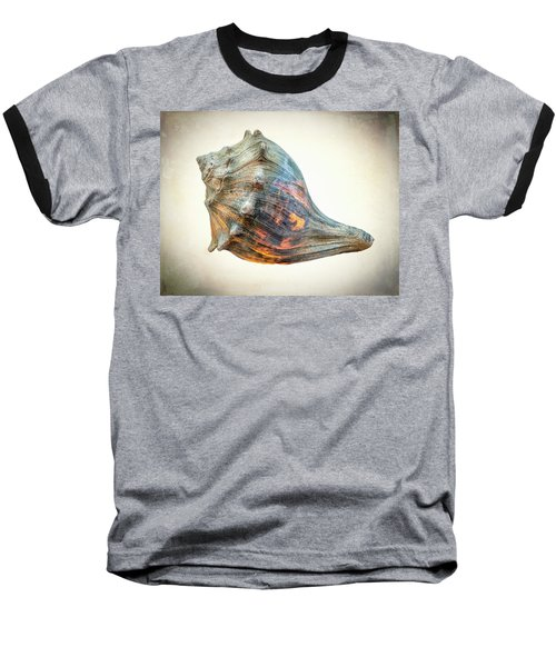 Baseball T-Shirt featuring the photograph Glowing Conch Shell by Gary Slawsky