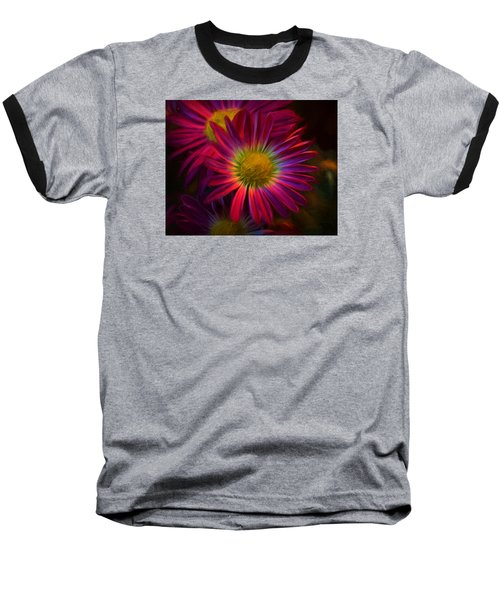 Glowing Eye Of Flower Baseball T-Shirt