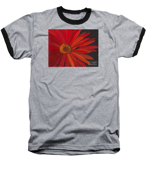 Glowing Gerber Baseball T-Shirt by Phyllis Howard