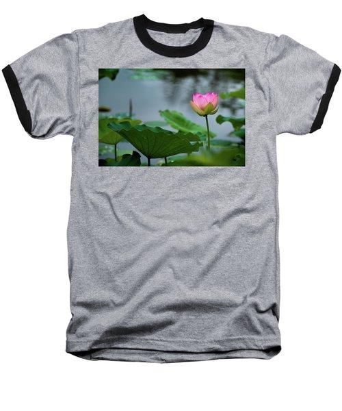 Glowing Lotus Lily Baseball T-Shirt