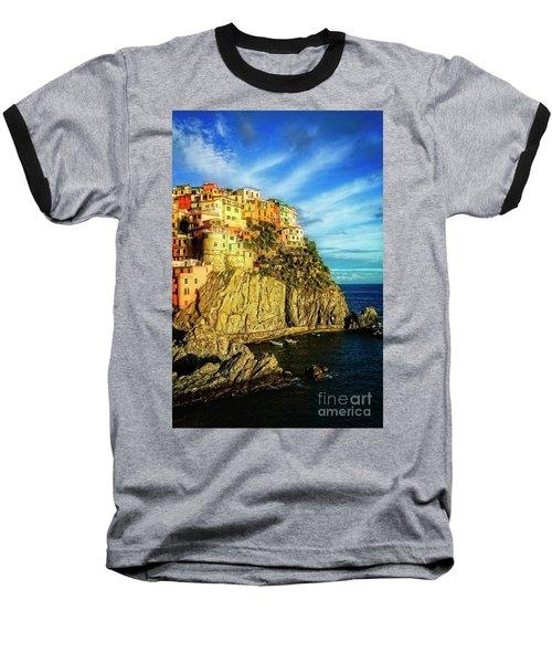 Glowing Manarola Baseball T-Shirt
