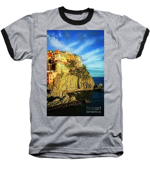 Glowing Manarola Baseball T-Shirt