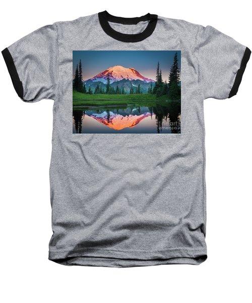Glowing Peak - August Baseball T-Shirt