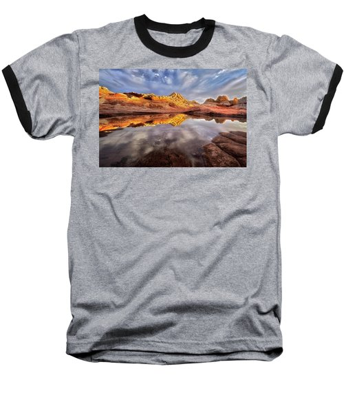 Glowing Rock Formations Baseball T-Shirt by Nicki Frates