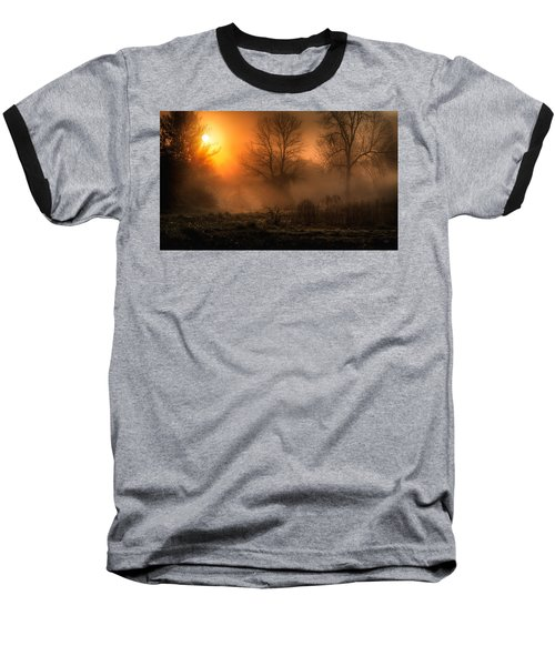 Glowing Sunrise Baseball T-Shirt by Everet Regal