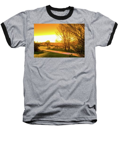 Glowing Sunset Baseball T-Shirt