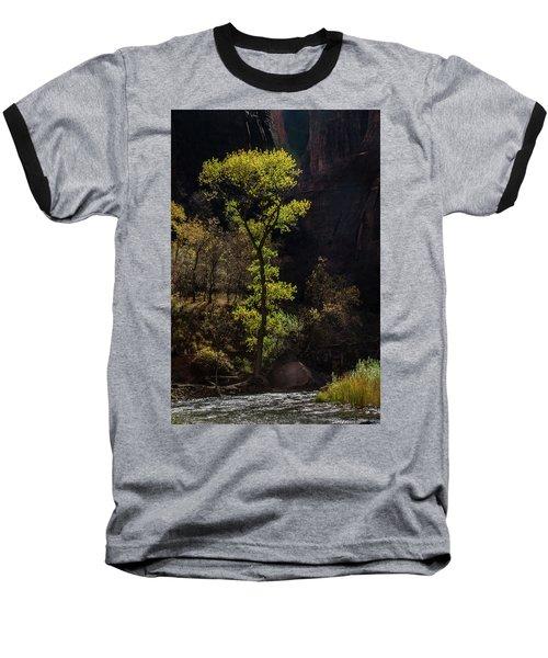 Glowing Tree At Zion Baseball T-Shirt
