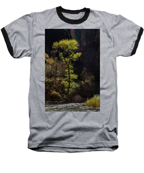 Glowing Tree At Zion Baseball T-Shirt